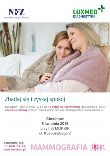 Zbadaj piersi! Skorzystaj z bezpłatnej mammografii